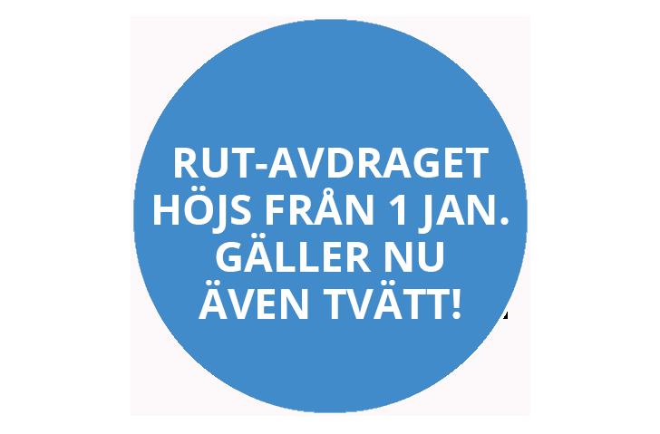 RUT-avdraget höjs från 1 januari 2021
